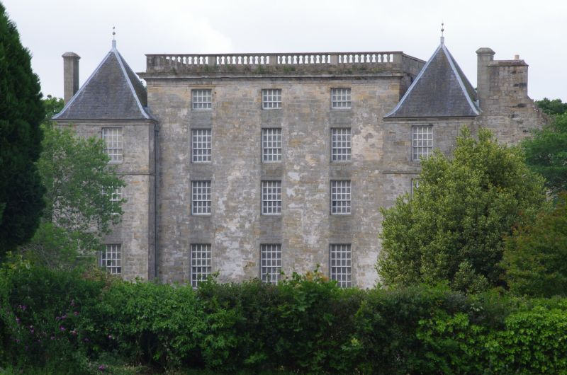 Kinneil House, Bo'ness. James Watt Cottage to left of house.